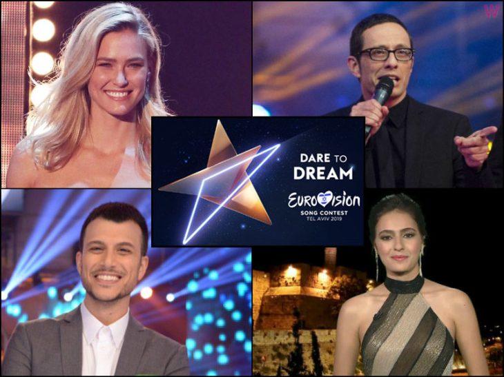 eurovision-2019-hosts-erez-tal-bar-refaeli-lucy-ayoub-and-assi-azar-800x600